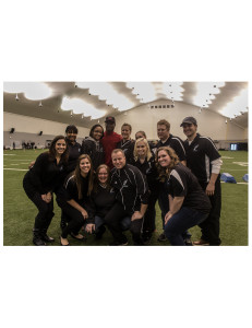 Members of the Soul staff gather with Jeremy Maclin during last weekend's open tryouts. - Photo credit Melissa Holmes