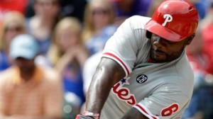 Ryan Howard knocked in both Phillies runs and hit his 17th homer during his team's 2-1 win over Houston Tuesday night at CBP. Photo credit - Philadelphia Phillies