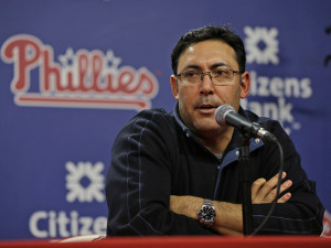 Ruben Amaro is not in danger of losing his job, according to club president David Montgomery. Photo credit - Philly.com