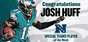Huff Named NFC Special Teams POW