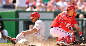 Phillies 'Leg Out' Win in Washington