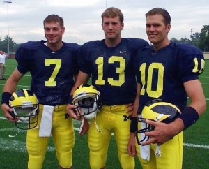 Tom Brady had difficulty separating himself from a quasi-Wolverine/Brat Pack while at Michigan. Is that true greatness? - Photo copyright Univ of Michigan