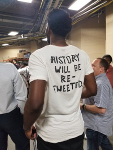 """""""History Will Be Re-Tweeted"""": Embiid's Shirt Draws Praise"""