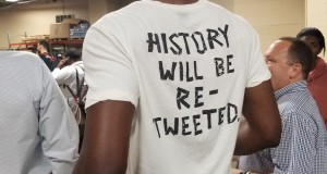 """History Will Be Re-Tweeted"": Embiid's Shirt Draws Praise"