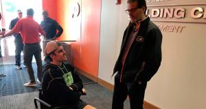 Humboldt Hockey Member Straschnitzki Visits Flyers